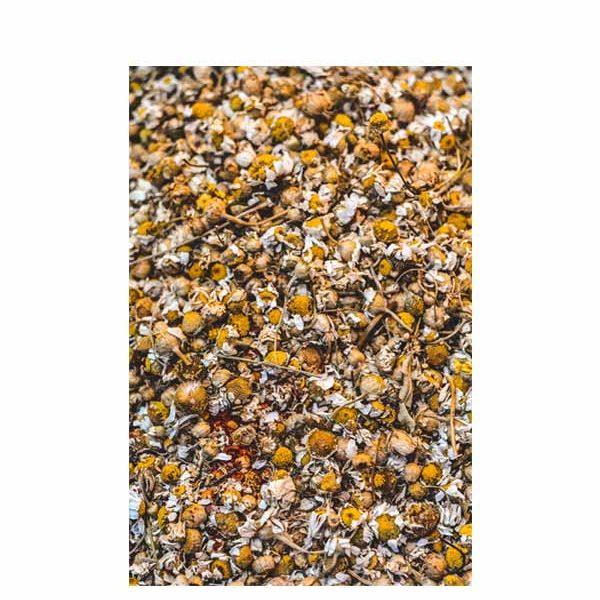 αποξηραμένα ολόκληρα άνθη χαμομηλιού