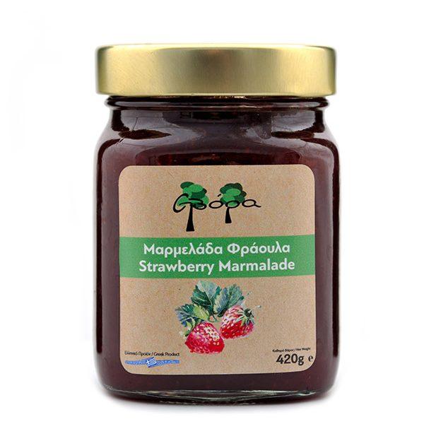 Μαρμελάδα Φράουλα χωρίς ζάχαρη σε βάζο