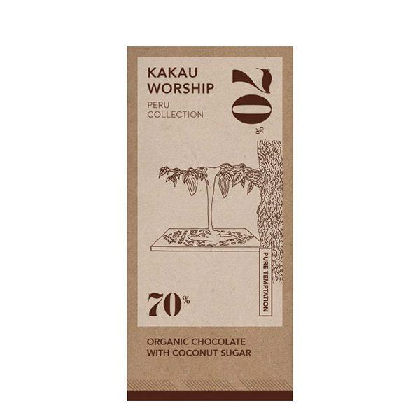 Σοκολάτα 70% Peru Pure σε χάρτινη συσκευασία