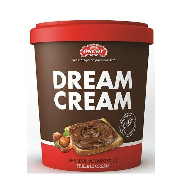 Πραλίνα Φουντουκιού Dream Cream σε πλαστικό κουβαδάκι