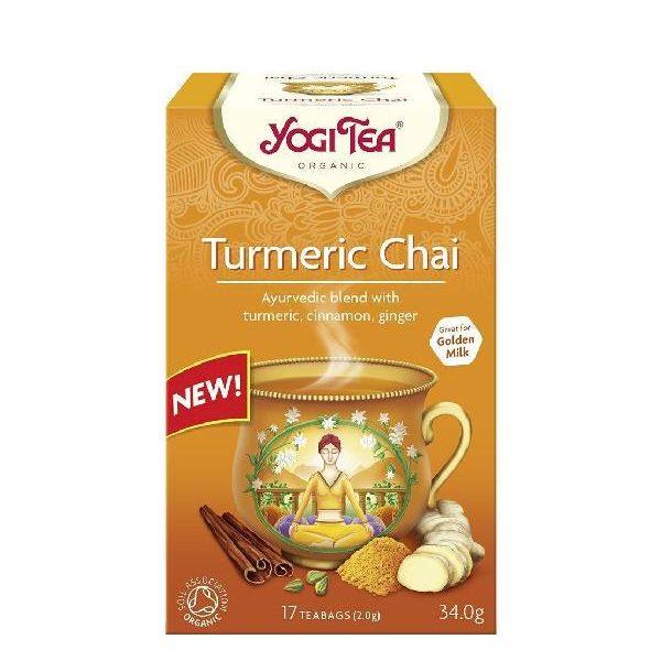 Yogi Tea Turmeric Chai BIO σε χάρτινη συσκευασία
