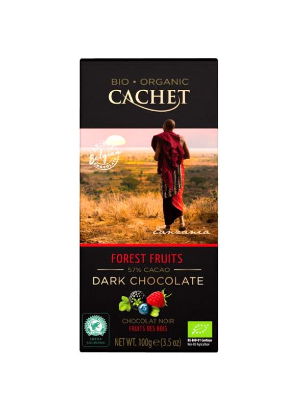 57% Μαύρη Σοκολάτα Φρούτα του δάσους σε χάρτινη συσκευασία