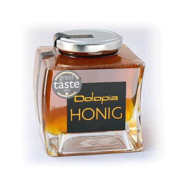 Μέλι από Βαμβάκι σε γυάλινο, τετραγωνισμένο βάζο