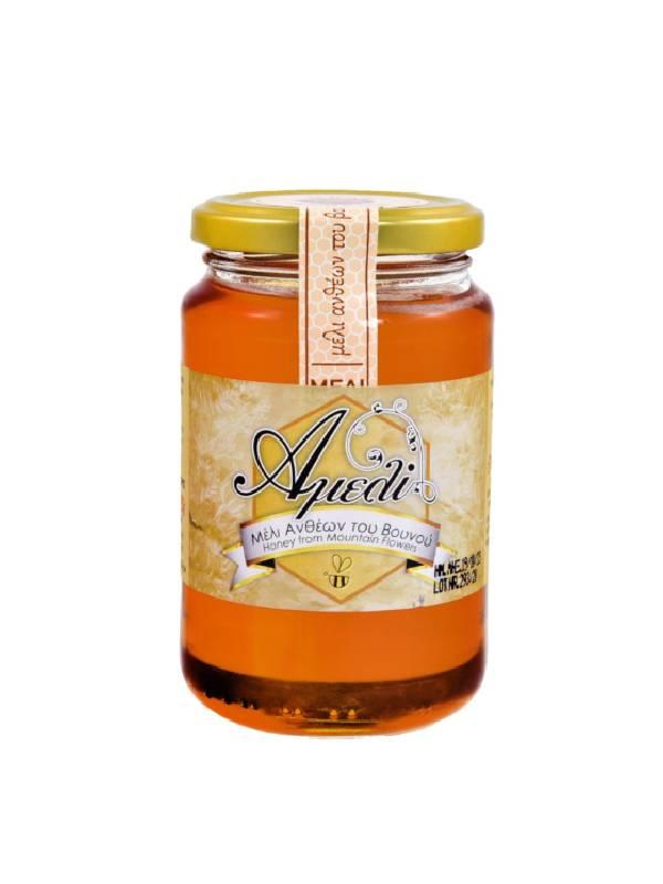 Μέλι Ανθέων σε γυάλινο βάζο