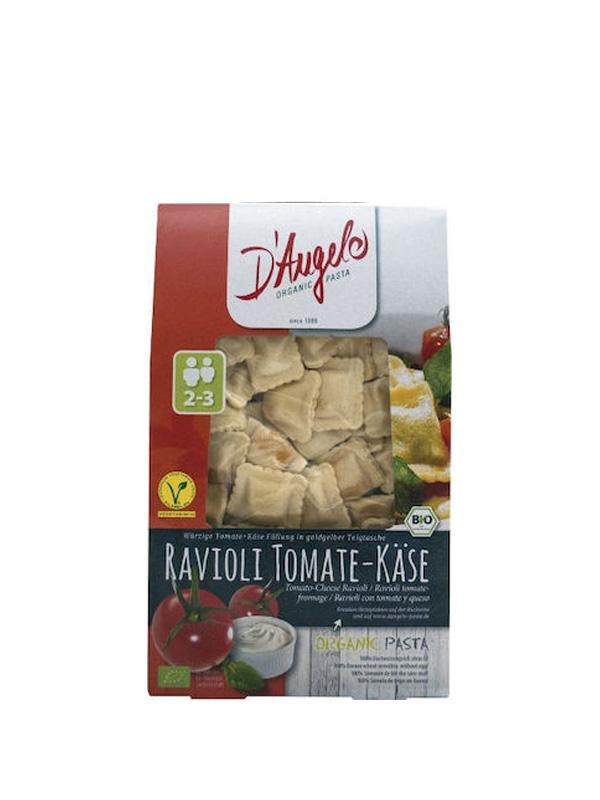 Βιολογικά Ραβιόλια με Τομάτα και Τυρί σε χάρτινη συσκευασία