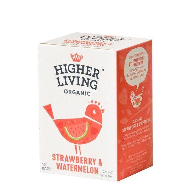 Βιολογικό Τσάι Φράουλα και Καρπούζι σε χάρτινη συσκευασία