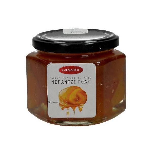Γλυκό Κουταλιού Νεράντζι Ρολέ σε γυάλινο βάζο