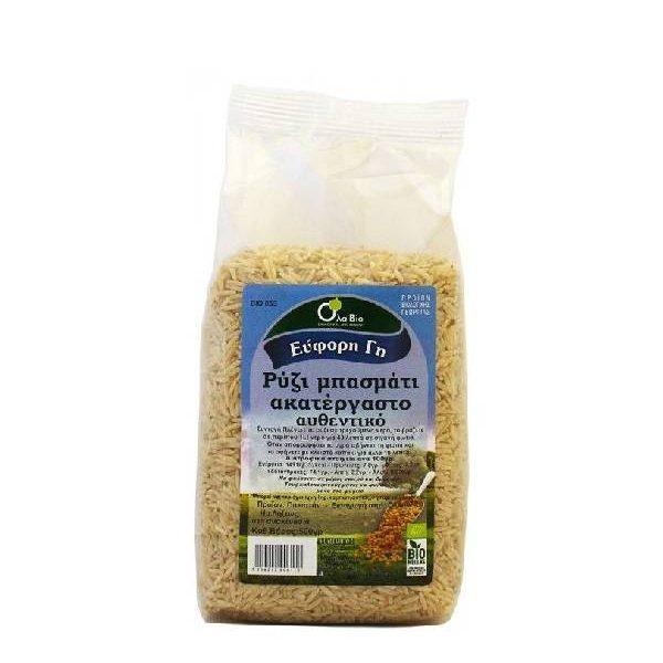 Ρύζι Μπασμάτι Καφέ ΒΙΟ σε διάφανο σακουλάκι