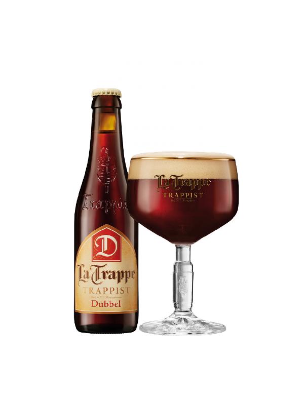 Μπύρα la Trappe Dubel σε μπρονζέ μπουκάλι