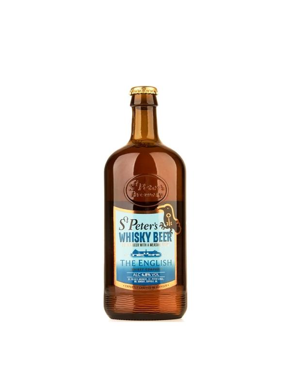 St. Peter's Brewery Saints Whiskey Beer σε γυάλινο μπουκάλι με γαλάζια ετικέτα