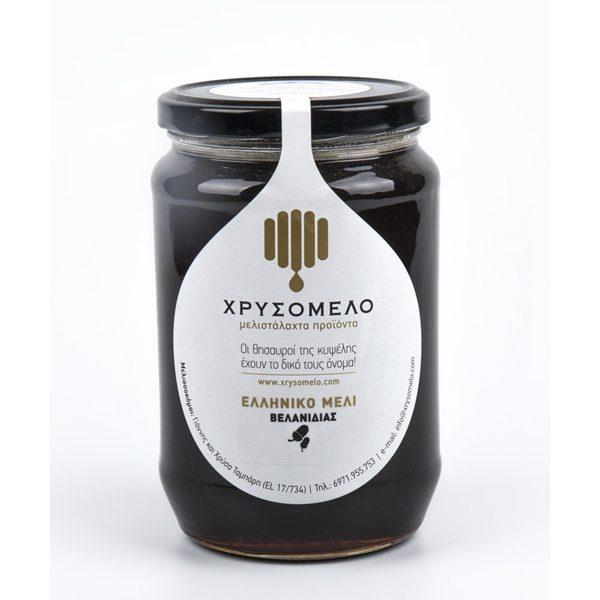 μέλι βελανιδιάς σε βάζο