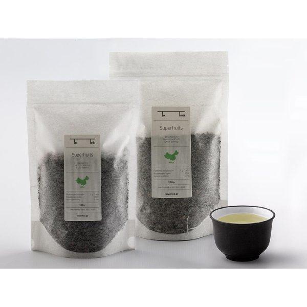 πράσινο τσάι superfruits συσκευασμένο