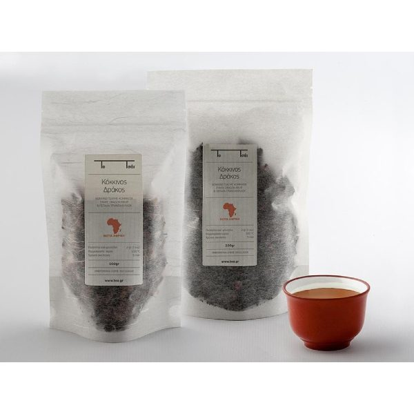 Rooibos τσάι, κόκκινος δράκος σε ημιδιάφανη συσκευασία