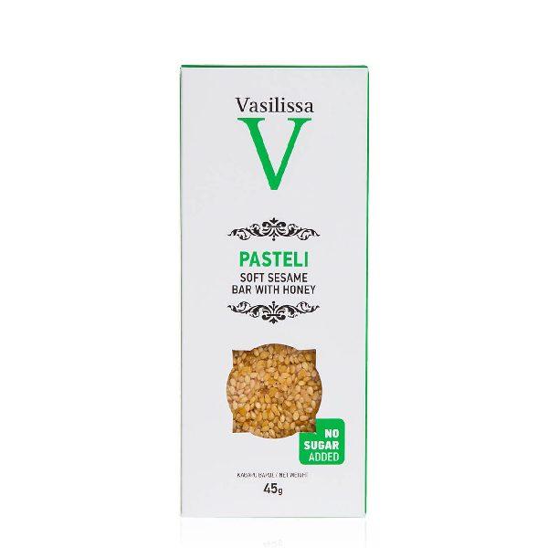 παστέλι χωρίς ζάχαρη σε χάρτινη συσκευασία