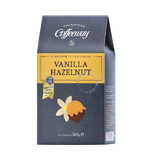 καφές φίλτρου βανίλια φουντούκι σε χάρτινη συσκευασία
