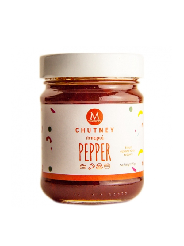 chutney πιπεριάς σε βάζο