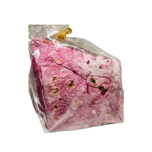 ροζ φύλλα περέκ με παντζάρι σε σακουλάκι