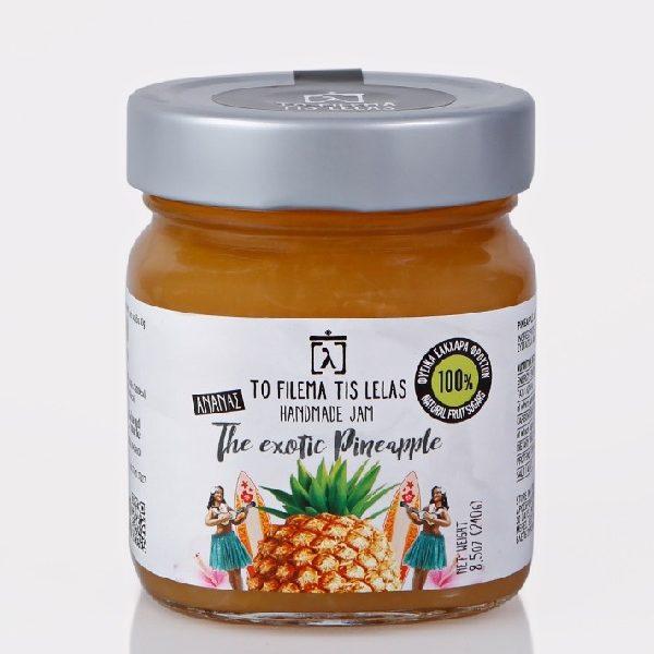 μαρμελάδα ανανάς χωρίς ζάχαρη σε βάζο