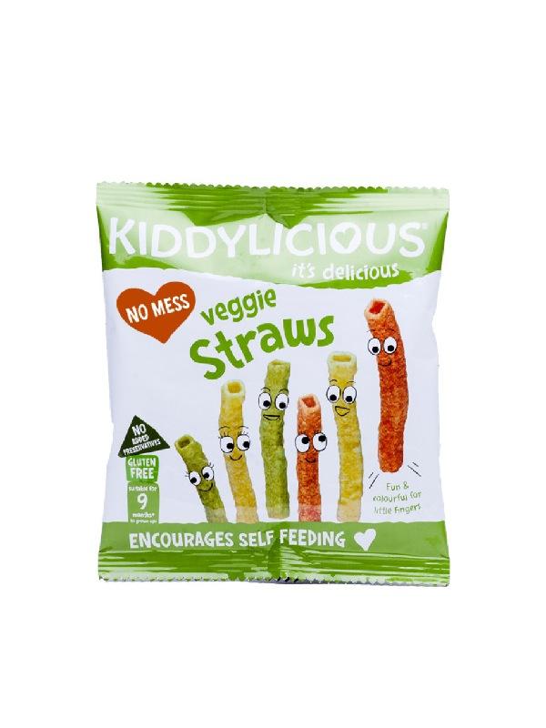 παιδικά σνακ λαχανικών σε σακουλάκι με πράσινα χρώματα