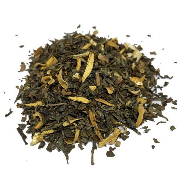 πράσινο τσάι με ροδοπέταλα χύμα