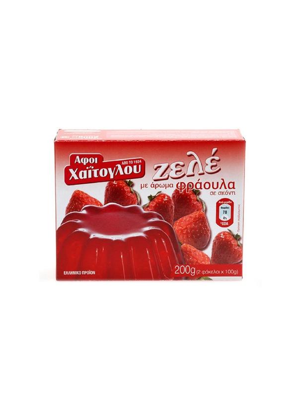 ζελέ φράουλα σε χάρτινη συσκευασία