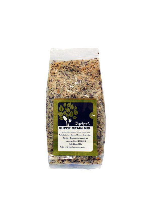 Βιολογικό Μείγμα Ρυζιών Super Grain Mix σε συσκευασία