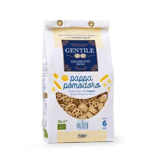 Bio Ζυμαρικά Στρόγγυλα Le Ruote σε λευκή συσκευασία